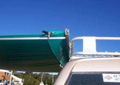 Bag Awning Self Supported Close Up