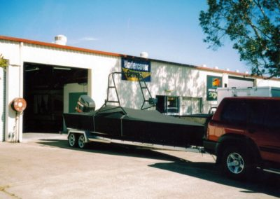 Ski Boat Cover to trailer