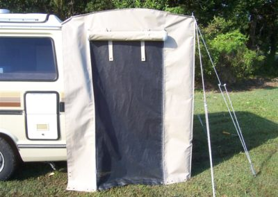 Throw over van tent attached