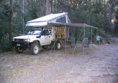 Camper above 4WD