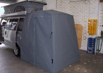 Van tent side view